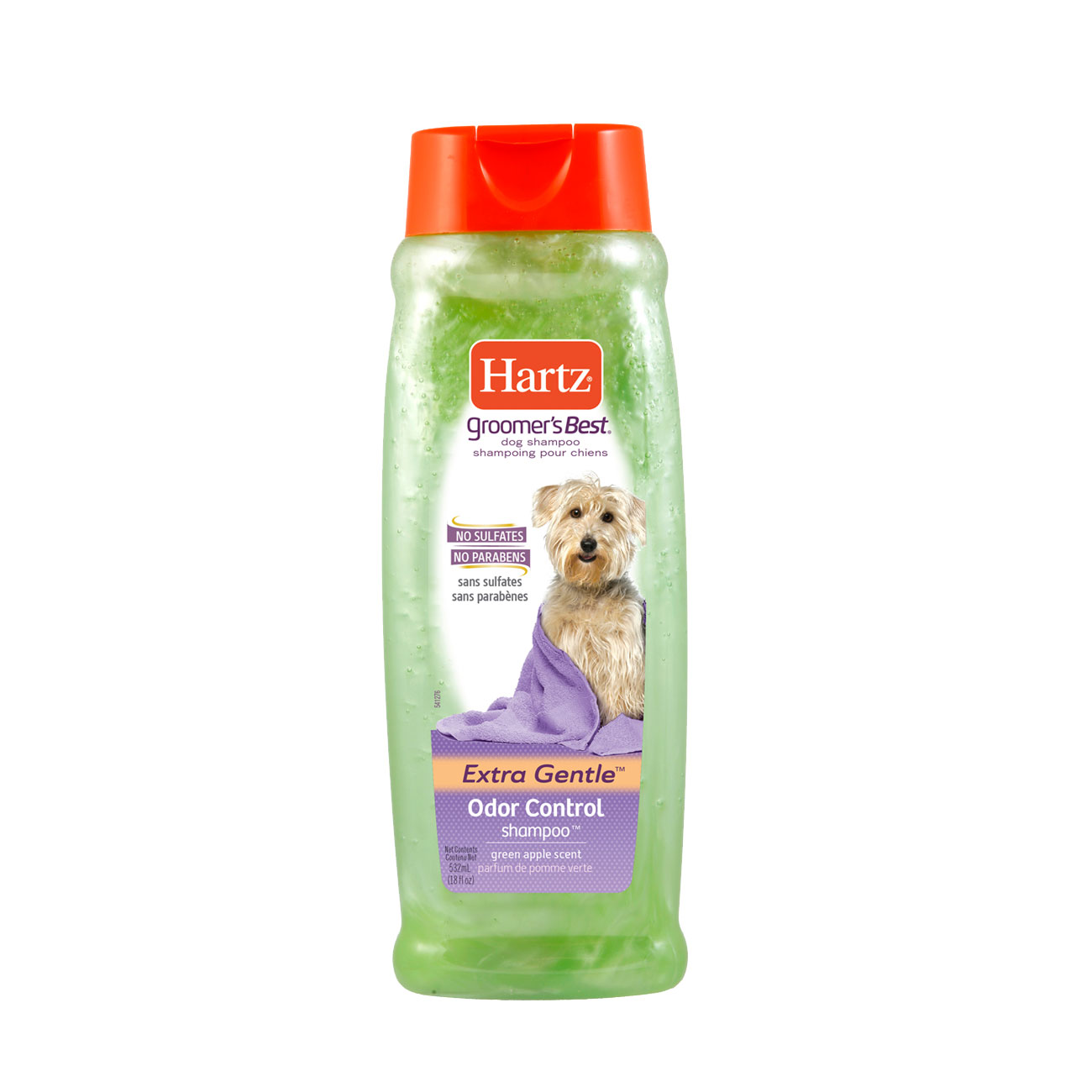 Hartz groomers best odor control shampoo for dogs. Front of package. Learn more about odor control dog shampoo from hartz. Hartz SKU#3270015409.