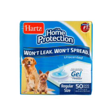 A pack of 50 training pads for regular size dogs, Hartz SKU 3270004159