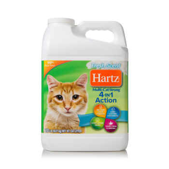 20 lb of litter for multiple cats, with odor control, Hartz SKU 3270014912