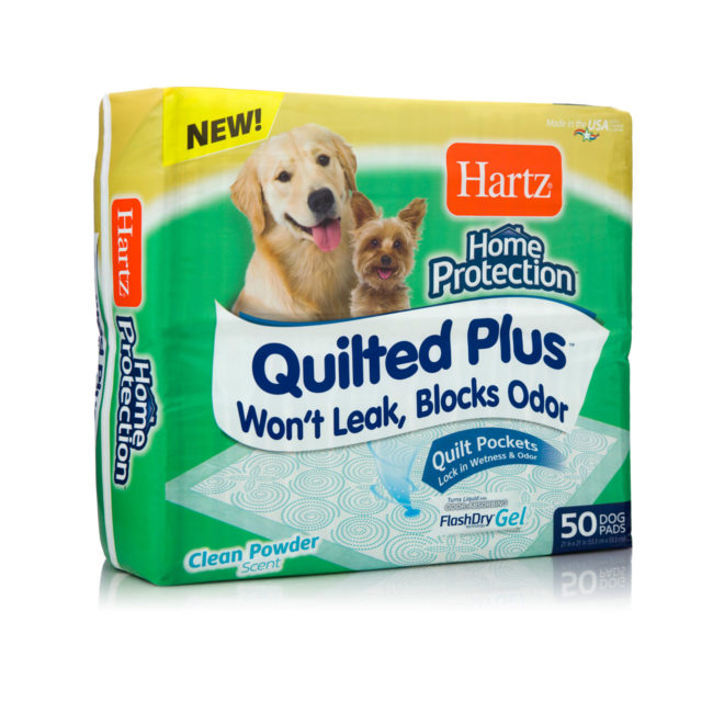 Quilted training pads for dogs that resist leaking, Hartz SKU 3270015704