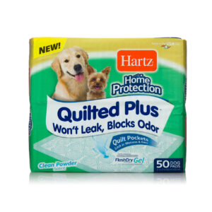 A 50 pack of quilted pocket training pads for dogs, Hartz SKU 3270015704