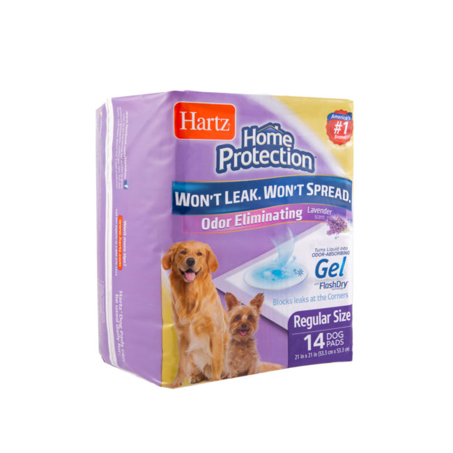A 14 pack of odor eliminating training pads for dogs, Hartz SKU 3270014836