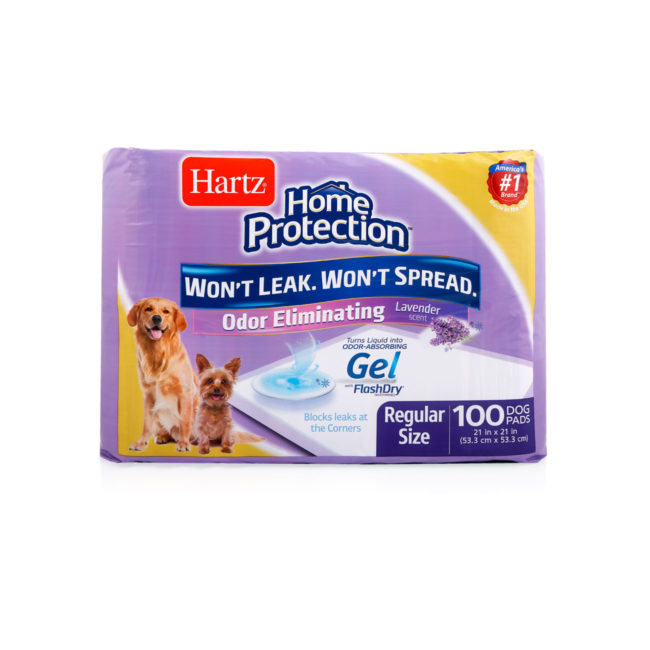 Hartz home protection dog pads help reduce dog smell and dog odor