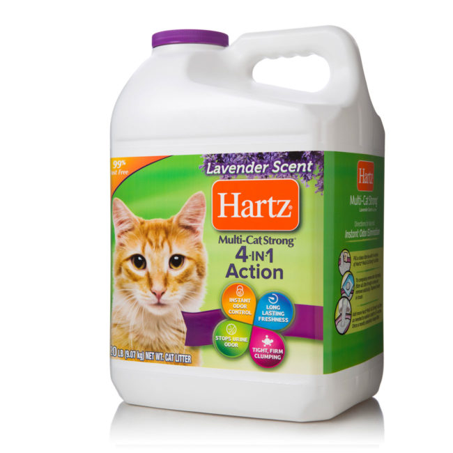Clumping, 99% dust free, lavender scented cat litter, Hartz SKU 3270014913