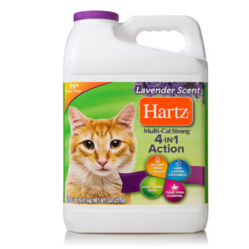 Odor controlled, lavender scented cat litter, Hartz SKU 3270014913