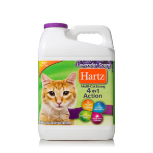 20 lb of lavender scented litter for multiple cats, with odor control, Hartz SKU 3270014913