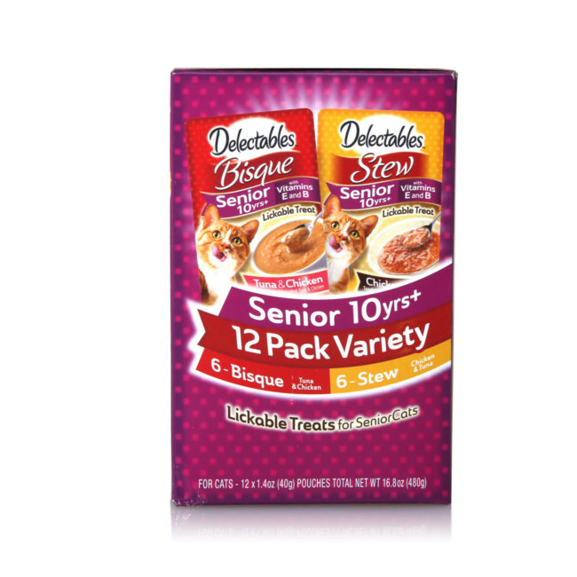 Chicken and tuna lickable treats, for senior cats, Hartz SKU 3270015746