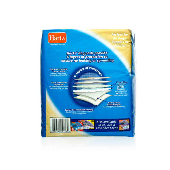 Hartz home protection odor eliminating dog pads 14 count.