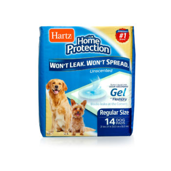 hartz home protection odor eliminating dog pads 14 count