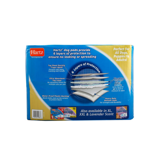 Ultra absorbent, unscented training pads for dogs, Hartz SKU 3270014938