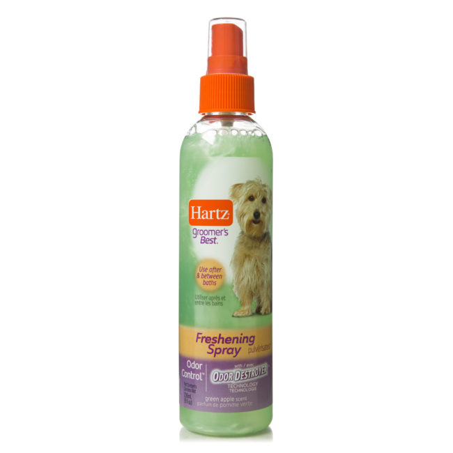 Odor control spray for grooming dogs, apple scent, Hartz SKU 3270015408