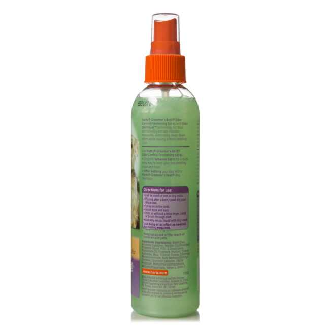 Directions to apple scented odor spray for dogs, Hartz SKU 3270015408