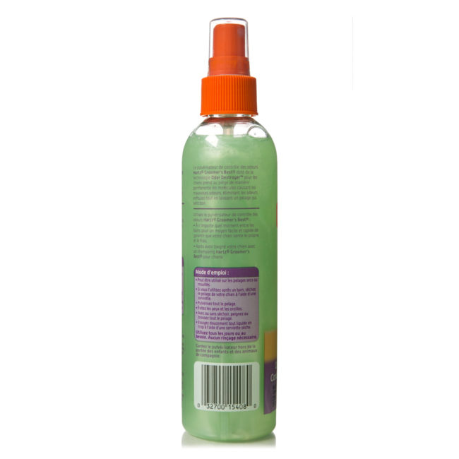 French directions to scented odor spray for dogs, Hartz SKU 3270015408