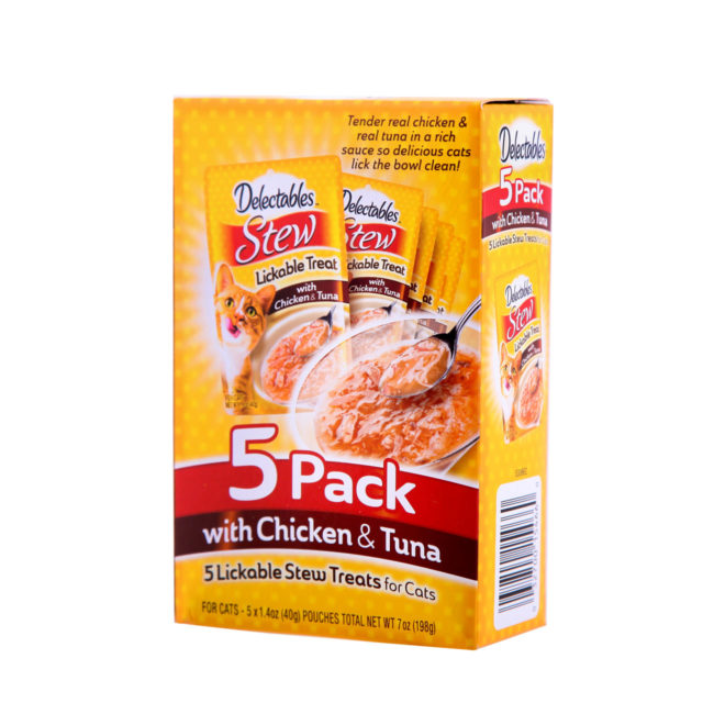 Delectables stew lickable treat with chicken and tuna for cats, Hartz SKU 3270015466