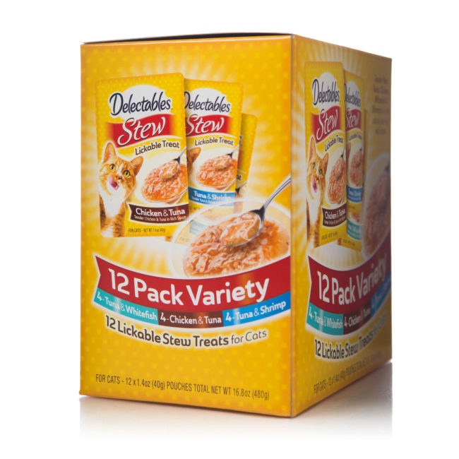 12 pack variety of chicken and fish in sauce, for cats, Hartz SKU 3270015468