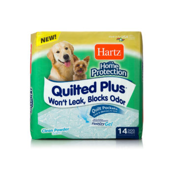 14 pack of quilted training pads for dogs and puppies, Hartz SKU 3270015703