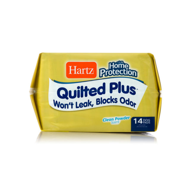 14 pack of quilted, powder-scented pads for dogs, Hartz SKU 3270015703