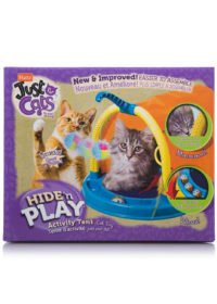 Play tent with track ball and feather toy for cats, Hartz SKU 3270002270