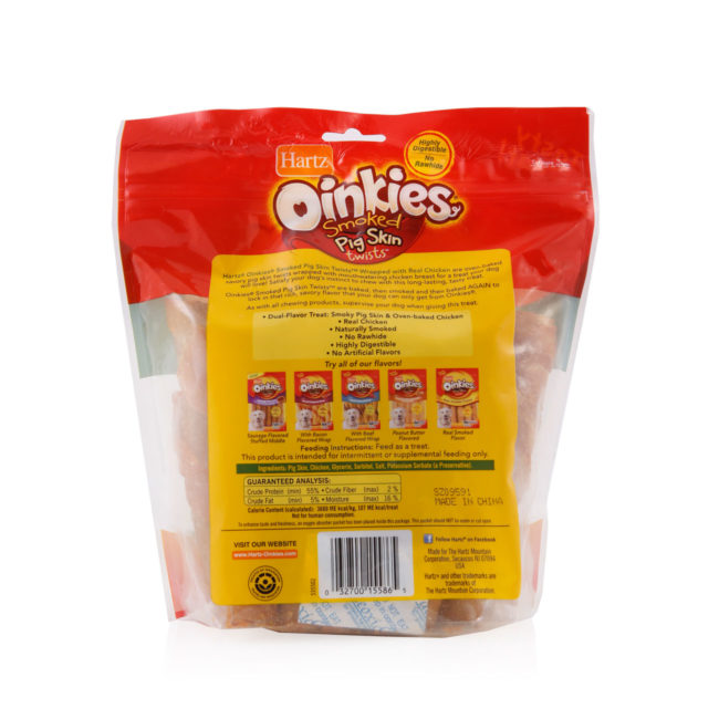 Oven-baked pig skin dog treats, chicken wrapped, Hartz SKU 3270015586
