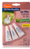 Hartz Ultraguard Ear Mite Treatment for cats. Ear mite treatment with aloe to soothe irritated skin. Hartz SKU# 3270098199