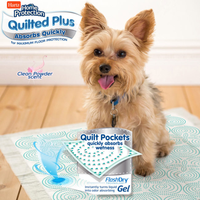Quilted Plus dog pads contain quilt pockets for more absorbency.