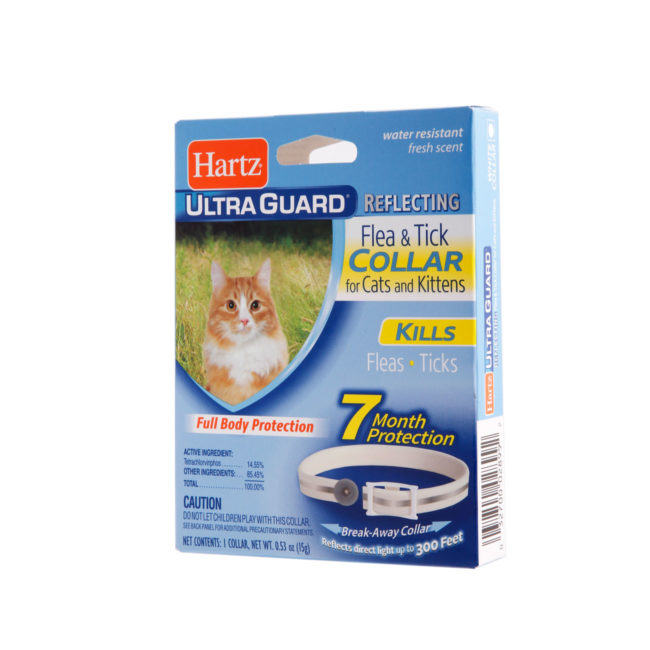 A flea and tick repellent collar for cats, Hartz SKU 3270002899