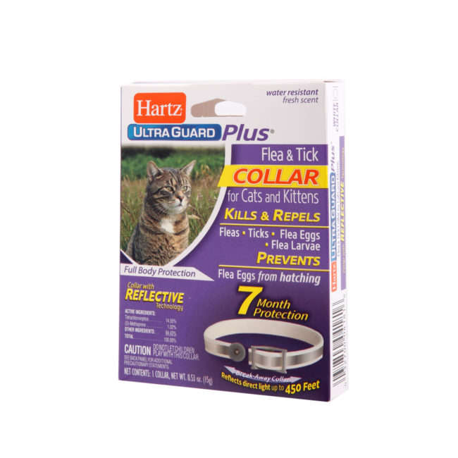 7 month protection flea and tick collar for cats, Hartz SKU 3270004181