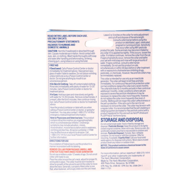 Directions to flea and tick collar for cats & kittens, Hartz SKU 3270090745
