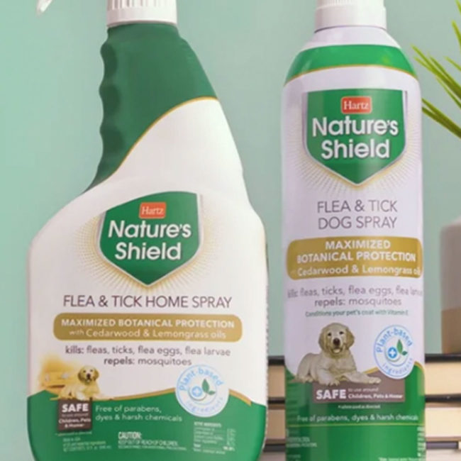 3270015909. Hartz Nature's Shield Flea and Tick video. Hartz Nature's Shield Home Spray is a plant based flea and tick product.