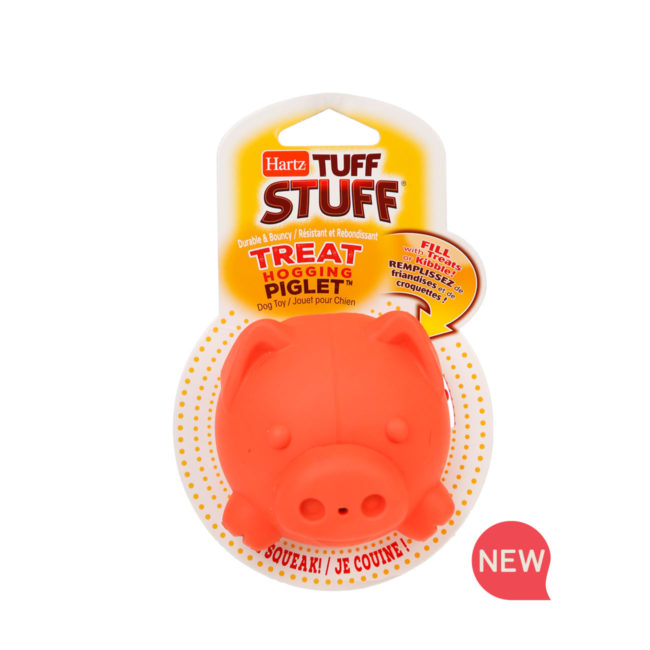 Hartz SKU#3270011228. Hartz tuff stuff treat hogging piglet. Interactive dog toy, dog treat dispenser.