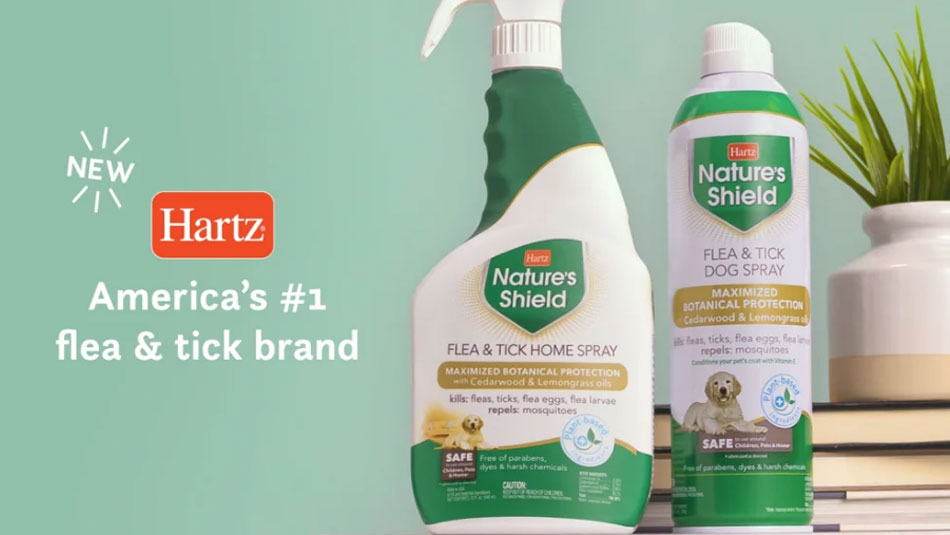 Hartz Nature's Shield. Natural flea and tick protection for your dog and home.