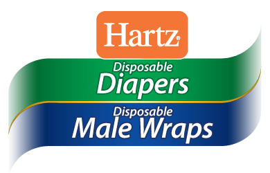 Hartz® Disposable Diapers and Disposable Male Wraps. Diposable dog diapers and disposable male wraps for dogs.