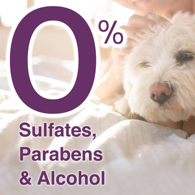 Hartz groomer's best dog shampoos contain 0% sulfates, parabens and alcohol.