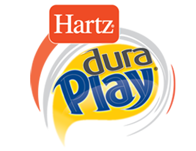 Hartz Dura Play logo. Durable dog toys for puppies.
