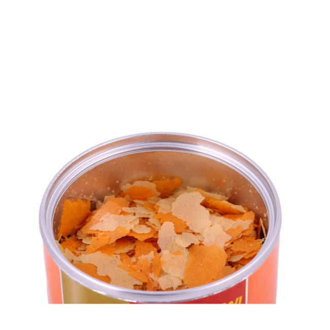 Wardley Clear Water gold fish food. Image of an open can of fish food. Wardley SKU#4332415775