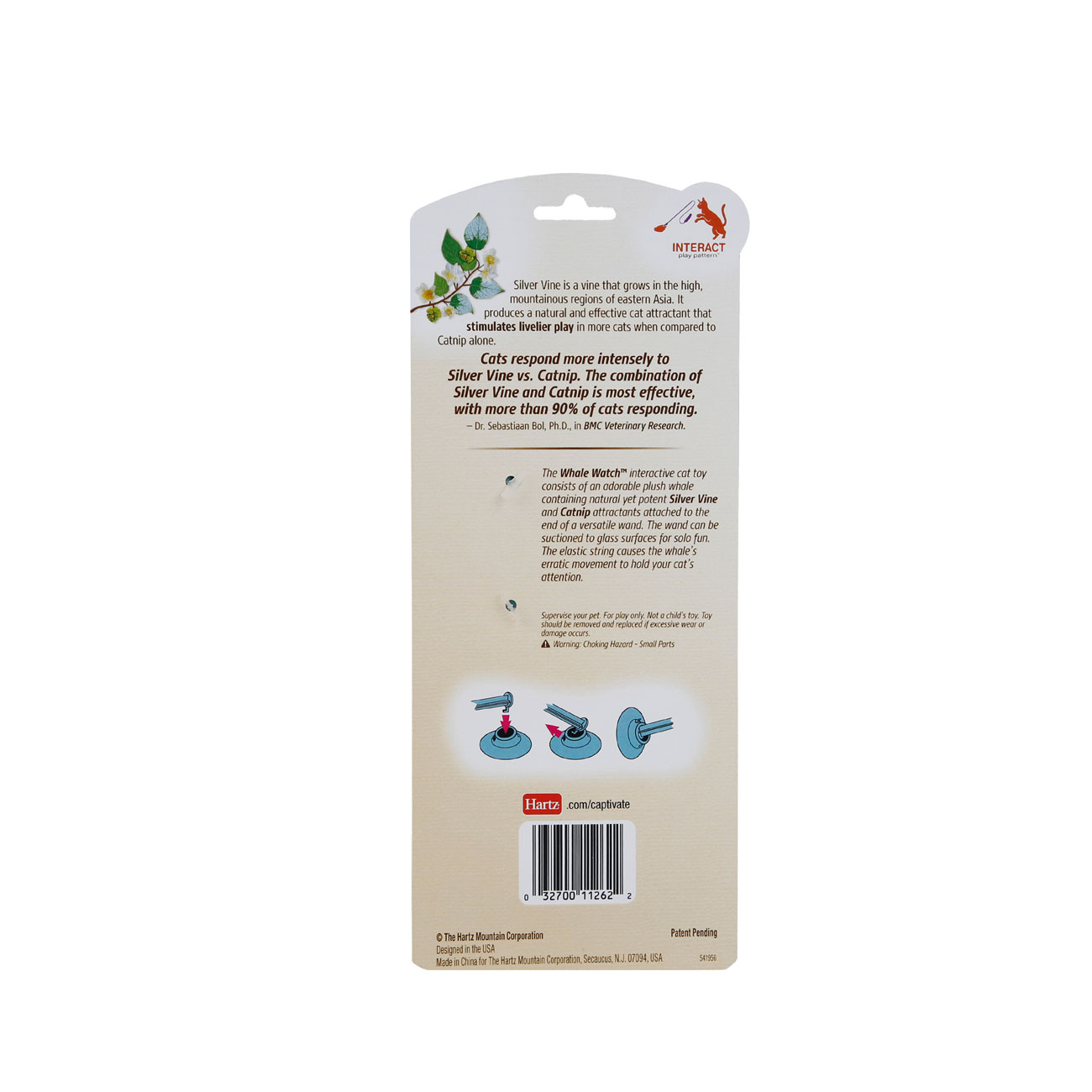 Hartz captivate whale watch high quality cat toy with silver vone and catnip. Hartz SKU#3270011262