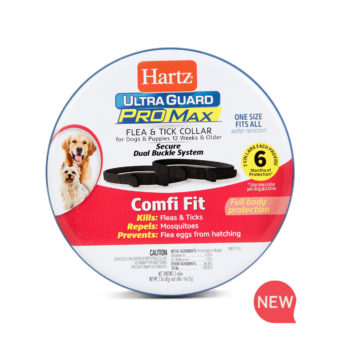 New Hartz UltraGuard ProMax Flea & Tick Collar, black. Hartz SKU# 3270011372
