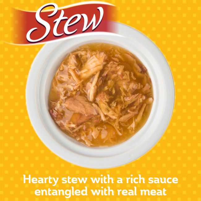 Hearty stew with a rich sauce entangled with real meat.