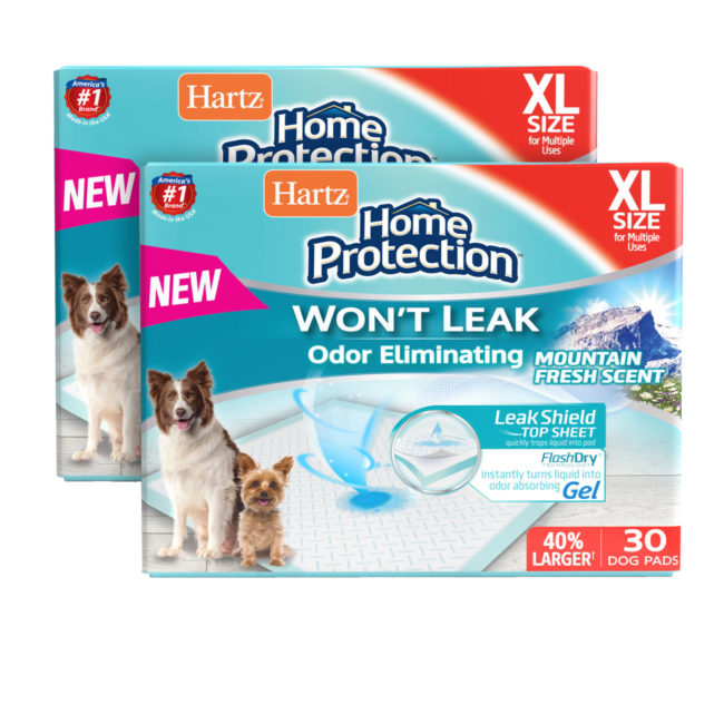 Hartz home protection odor eliminating dog pad mountain fresh scent.60 count package.