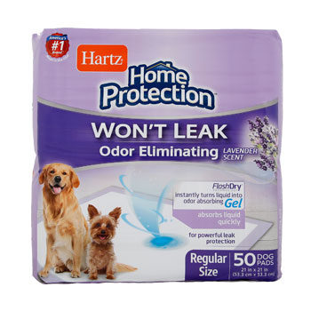 Hartz Home Protection Odor Eliminating 50 count dog pads with Lavender Scent